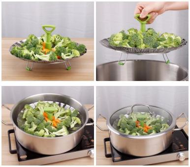 'Vitamin Protector' for Steam Cooking, foldable